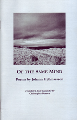 Of The Same Mind Poems by J�hann Hj�lmarsson